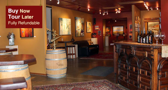 Pondera Winery Tasting Room and Artwork